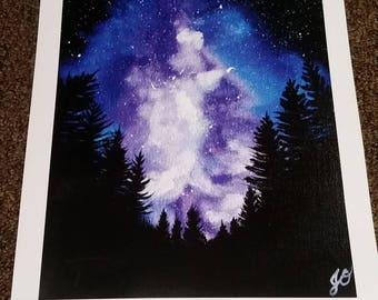 Nebula Forest (Print)