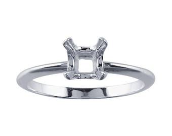 Sterling Silver ReadySet™  Cushion Ring Mounting, choose your size