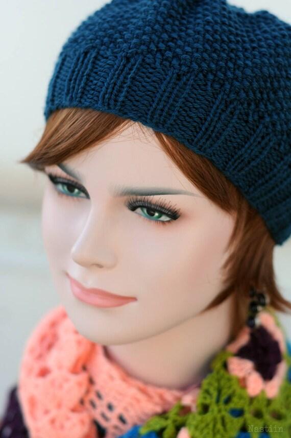 Knit Beret Pattern Knit Hat Pattern Knitting Beanie Slouch Hat