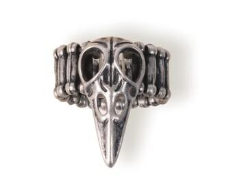 Raven Skull Ring (STEAM240)