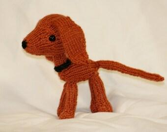Miniature Knit Redbone Coonhound Doll - Amigurumi Toy