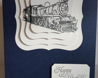 Train Happy Birthday Handmade Card