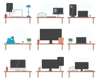 Personal Desk Icon Set