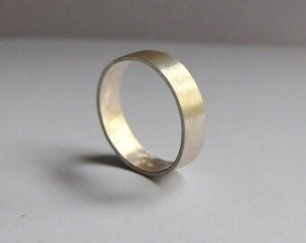 Ring for men IV, brushed silver