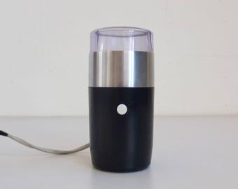 Iconic Braun  Electric Coffee Grinder / Surgar Mill KSM 11 by Reinhold Weiss / Black - Silver