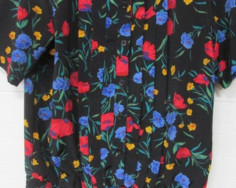 Alfred Dunner Petite 12 Spring Floral Blouse