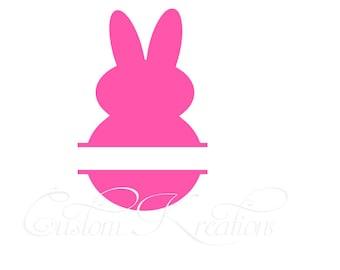 Split Easter Peep  SVG File