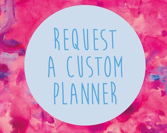 Design Your Own Planner - Custom Cover Design and Planner - Personalised Planner - 2018 Weekly Planner - Whistle and Birch - 2018 Diary