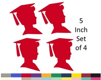 Boy Graduation Party Decorations DIY Centerpiece Picks Party Supply Die Cuts 5 Inch Set Of 4 Pick Your School Colors Choose From 20 Colors