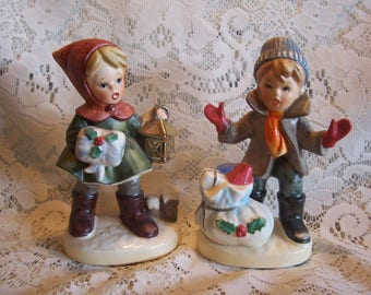 Rare HTF Napco Christmas Figurines, Japan