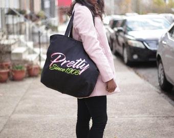 Pretty Since 1908 AKA Zippered Tote Bag