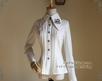 Steampunk Lolita Embroidery Gears Blouse