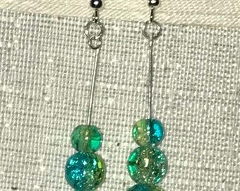 Blue Mermaid Sea Drop Earrings