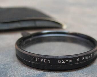 Tiffen 52mm Rotating Star 4 Point 2MM Lens Filter Flares Stars