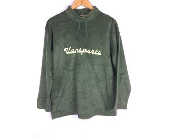 VANSPORTS Long Sleeve Sweatshirt with Big Spell Out Embroidered Logo Large Size Sweatshirt
