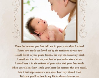 First Mothers Day Gift-From Baby to New Mommy-Custom Photo Print-Personalized Poetry Print-Choice of Poem