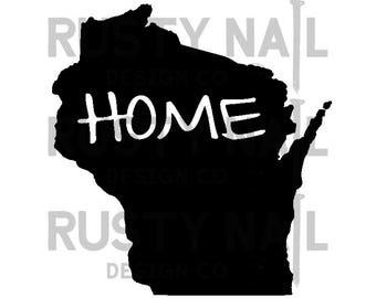 Wisconsin home decal, Milwaukee home, mke love, wisconsin love car decal, wisconsin heart