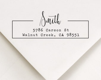 Address Stamp, Return Address Stamp, Modern Frame Stamp (816)