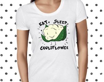 Cute Plant Based Shirt - Funny Vegetarian Shirt - Cute Vegan Tee - Vegan Statement Tee - Funny Pun Shirt - Cauliflower Shirt