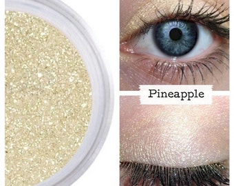 Gold Shimmer, Gold Eyeshadow, PINEAPPLE, Mineral Eye Color, Gold Eye Shadow,  Gold Eye, Vegan Gold, Cruelty Free Makeup