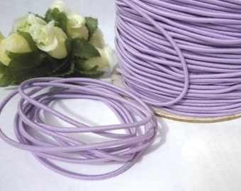 10 yd /9 meters Orchid Drawcord Round Drawstring Elastic Cord Rope 1.5mm width ET17