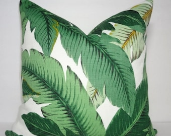 SPRING OUTDOOR SALE Outdoor/Indoor Palm Tree Pillow Cover Tommy Bahama Swaying Palms Pillow Cover Deck Porch Choose Size