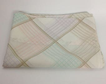 Vintage Pastel Plaid Pillowcase | Standard Springmaid | Vtg Bed Bedding | 1970s 70s | Pink, Purple Aqua Blue Green Brown Cream