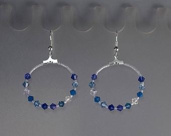 Swarovski Crystal Earrings - Hoop Earrings - Swarovski Crystal - Sterling Silver Wires, Posts or Leverbacks