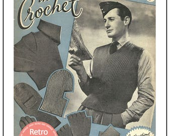 1940's War Woollies in Crochet - Vintage Pattern - PDF Instant Download