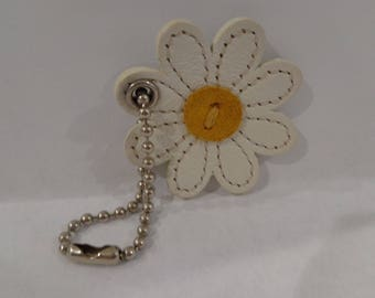 Coach Leather Daisy Hangtag Charm