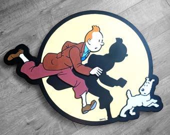Tim und Struppi & verschneiten 3D-Malerei | Wandbild | Hergé | Die Abenteuer von Tim und Struppi | Ligne Claire