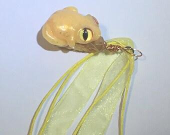 Lemon Colour Shifting Frog Necklace Pendant