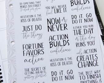 Motivation Quotes Planner Stickers | Get Stuff Done Stickers | Productivity Stickers (#143)