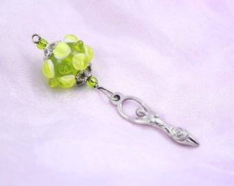 Blessingway bead - Spring Goddess - Mother Blessing bead, mama goddess, baby shower gift, placenta tree, pregnancy gift, pendant