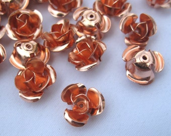 16pcs 11mm Metal Flower Copper Rose Findings Filigrees Jewelry Supplies f015