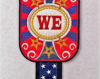 Patriotic Banner  Embroidery - United We Stand