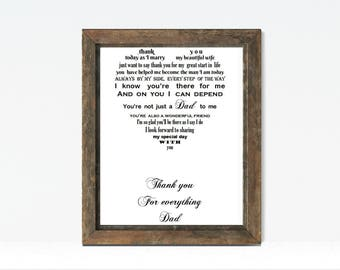 Father of Groom gift from groom, Dad gift on wedding day, Thank you Dad