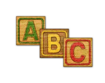 Digital vintage alphabet blocks / printable collage sheet / downloadable / square antique-style ABCs / 3 sizes / 1 inch / 2 inch / 1.5 inch
