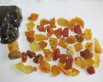 Destash Lots - Qty 45 - Amber Semi-Polish Tumbles / Tumbled - Inventory Reduction