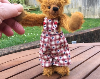 "Ooak mohair artist bear ""Della"" by Theresa of Carisbrooke Bears"