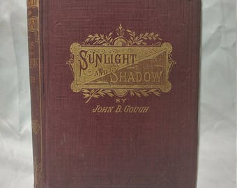 Antique Book - Sunlight and Shadow by John B Gough (1883)