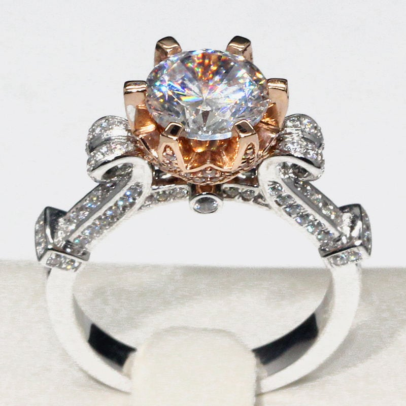 princess cinderella disney ring and blue london jewelry fine rings topaz engagement enchanted diamond