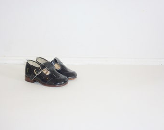 Vintage Black Patent Shoes
