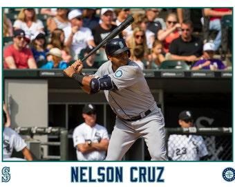 Nelson Cruz Seattle Mariners Canvas Wrap