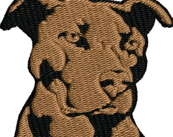 Pit Bull machine embroidery design