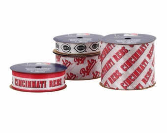 Offray MLB Cincinnati Reds Fabric Ribbon, 4 pack - 13 yards