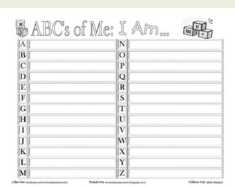 ABC'S of Me Self-Exploratory Activity