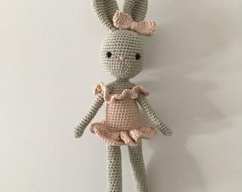Amigurumi Bunny, crocheted Doll