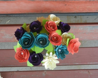 Custom Handmande Stemmed Paper Flower* Available in any Colors! Perfect for Decorating!