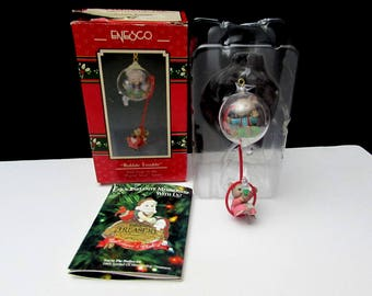 enesco bubble trouble mouse mice vintage christmas tree ornament 1st in the playful mouse series | xmas in original box | SO CUTE!